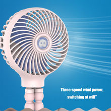 High Portable USB Mini Clip-on Desk Fan Handheld Fan for Baby Stroller Travelling Hiking Climbing UEJ(China)