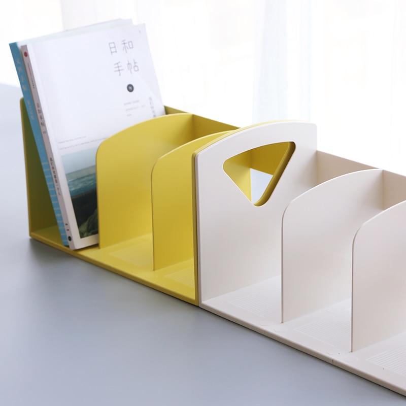 Creative Multifunction PP Bookshelf Desk Book Organizer School Stationery Case Desk Bookends Home Office Supplies Wholesale