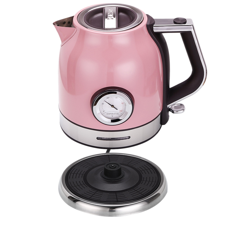 1.8L 304 Stainless Steel Electric Kettle With Water Temperature Meter 1500W Household 220V Quick Heating Electric Boili Eu Plu1.8L 304 Stainless Steel Electric Kettle With Water Temperature Meter 1500W Household 220V Quick Heating Electric Boili Eu Plu