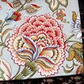 Retro pastoral style peony flower table bouchat release fabric