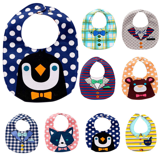 Baby Bandana Drool Bibs Cartoon Animal Baby Eating Clothes Toddler Boys And Girls baby apron Slabber Baby Bibs Burp Cloth Scarf