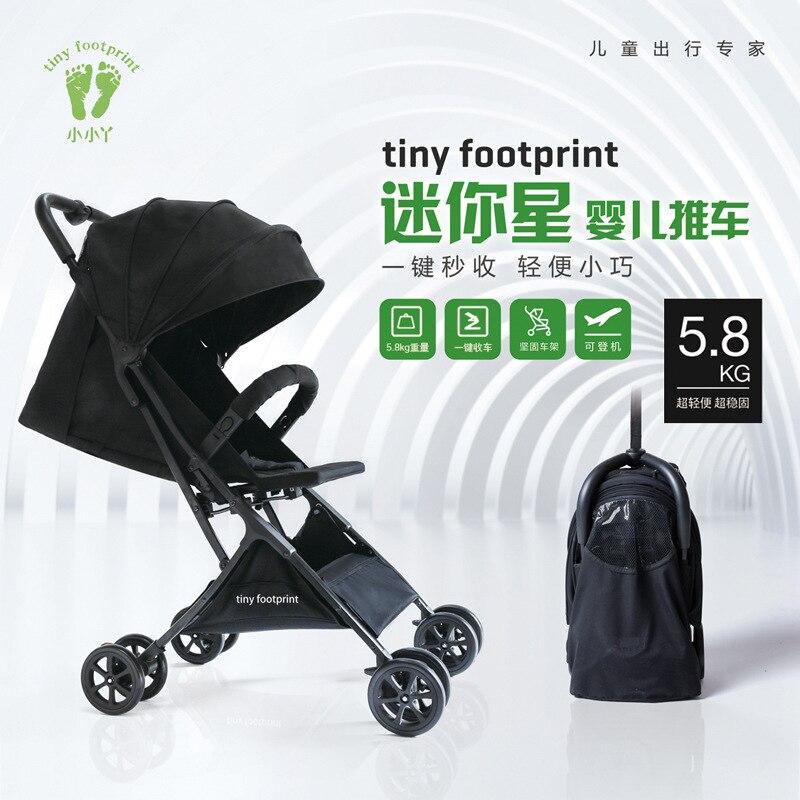 Bébé poussette bébé multi-usages panier peut être sur l'avion bébé poussette facile à plier ultra-léger