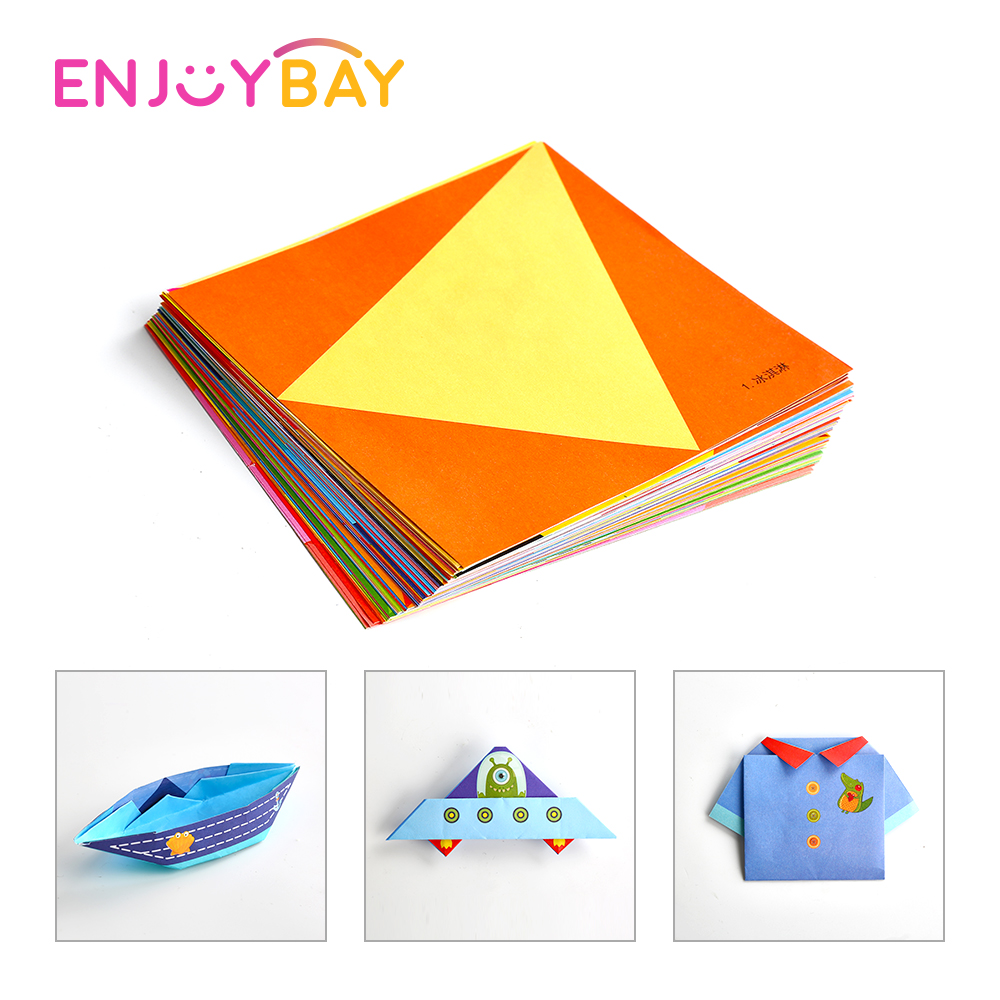 54pcs:  Enjoybay 54pcs Kids DIY Art Paper Craft Toy Educational Colorful Origami Toys Cartoon Animal Larning Toy for Preschool Children - Martin's & Co