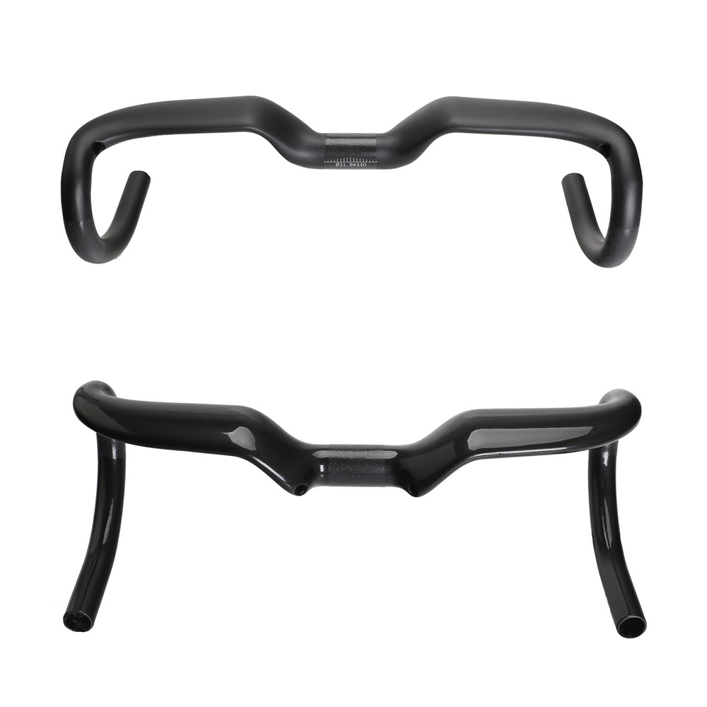 Toseek Cycling Road Bike Handlebar Bent Bar Ultralight Carbon Fiber Bicycle Handlebar 31.8mm*400/420/440 Ultra-light Black toseek full carbon fibre bicycle road handlebar integrated bike handlebar stem cycling bent bar ud matte gloss balck logo