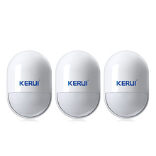 3 pcs/lot KERUI Wireless pir detector wireless 433MHz pir motion sensor For Home Security GSM Alarm System