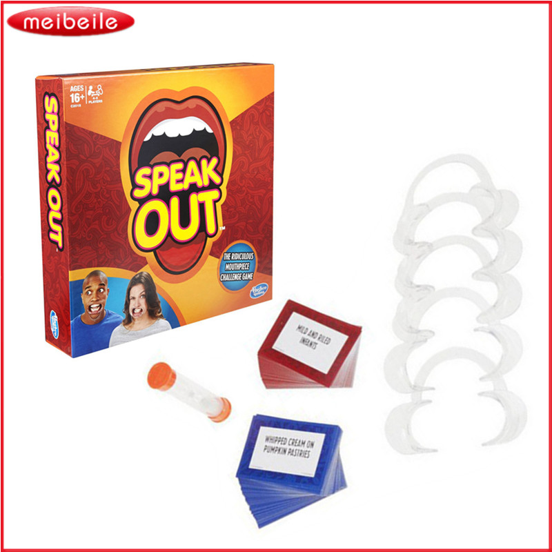 Best Selling Board Game Speak Out Game Great Party Props And Family Christmas Gift Fun Toy Game With Original Box castles of burgundy board game 2 4 players cards games send english instruction funny game for party family with free shipping