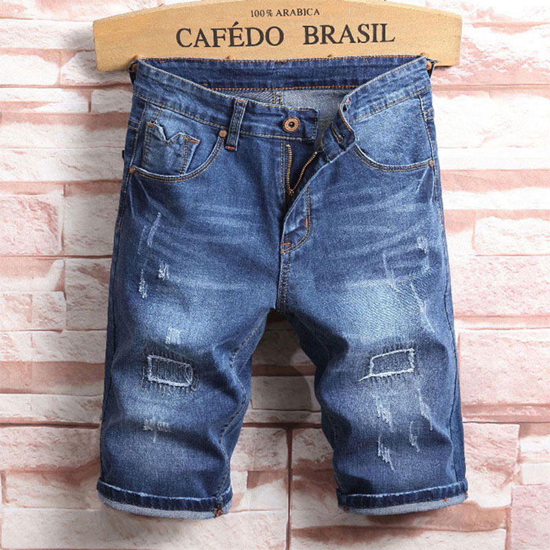 2019 Summer New Men Jeans Shorts,Blue Colors Jeans Shorts Men,Fashion Designer Short Ripped Jeans For Men,Men Pants!A509