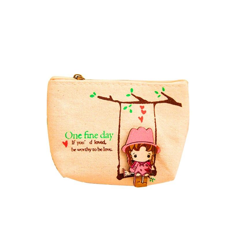 Лидер продаж милые симпатичные наушники сумки для женщин и девочек кошелек мини Холст мультфильм мешочек маленький кошелек наушников пода...