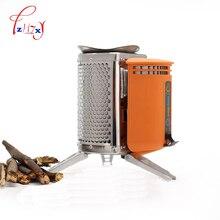 Нержавеющая сталь CampStove устройство для дровяной печи Открытый походный рюкзак для пикника Кухня барбекю 1 шт