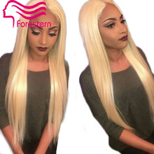 2015 New Arrival Full Lace Human Hair Wigs Blonde Silky Striaght Brazilian Lace Front Wig Glueless Blonde Wig For White Women