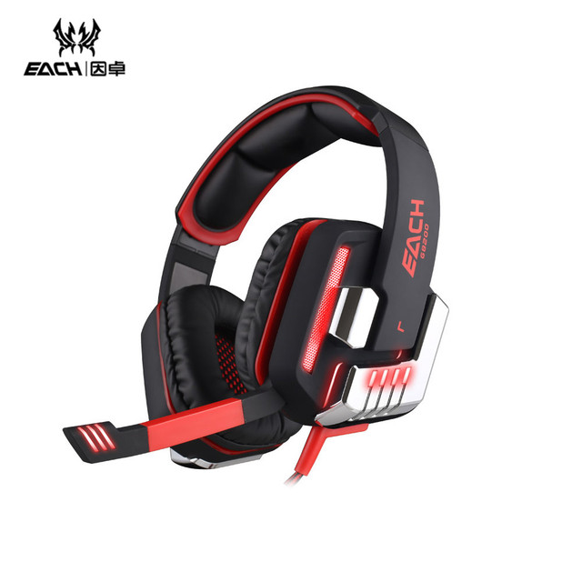 CADA Juego de Auriculares 7.1 Surround Gaming Headset Vibración G8200 Diadema Casque Auricular Micrófono Led para PC Gamer