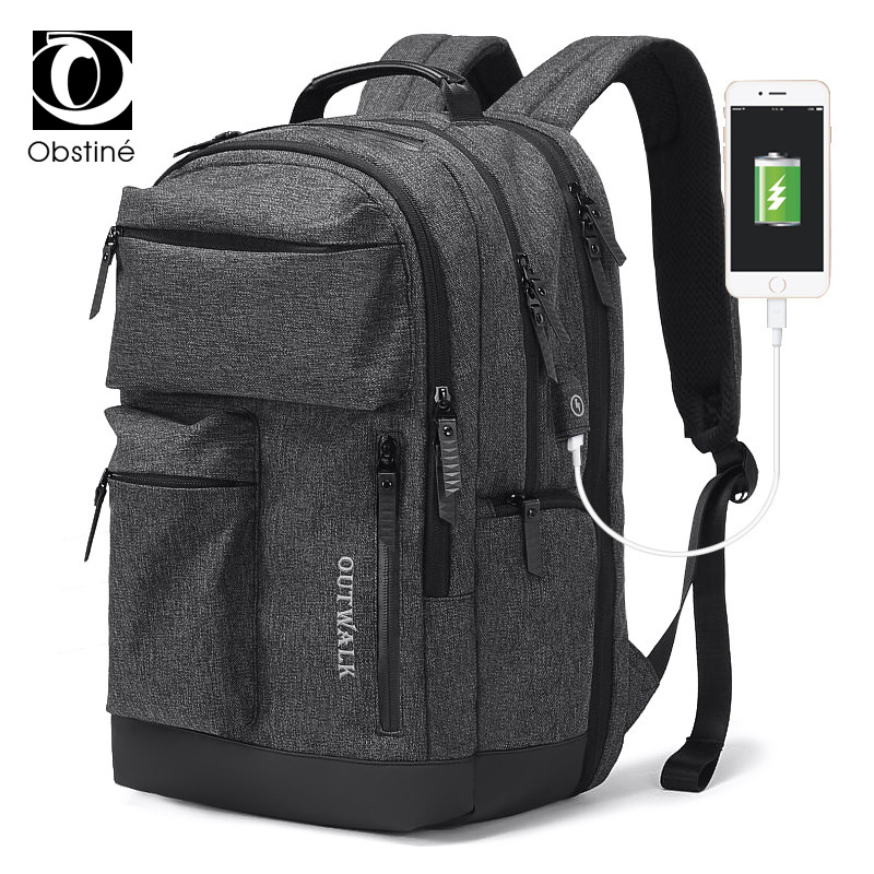 Travel Backpack Male with USB Charger for Laptop 15 6 Inch Backpacks for Men Bagpack Large