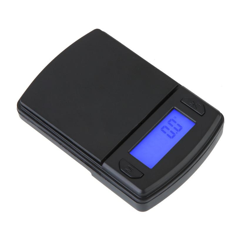 600g * 0.1g Mini Digitale Weegschaal Nauwkeurige Sieraden Gold Diamond Schaal Elektronische Weegschalen Gewicht Balance Lcd Display Blauw Back-lit