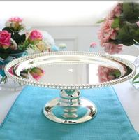 European high grade silver plated dessert cake cake stand dessert plate wedding decoration home jewelry storage tray DGP057