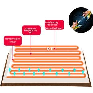 Image 5 - Waterdichte Elektrische Deken Dubbele 220V Elektrische Verwarmde Deken Mat Enkele Control Slaapzaal Slaapkamer Verwarming Tapijt