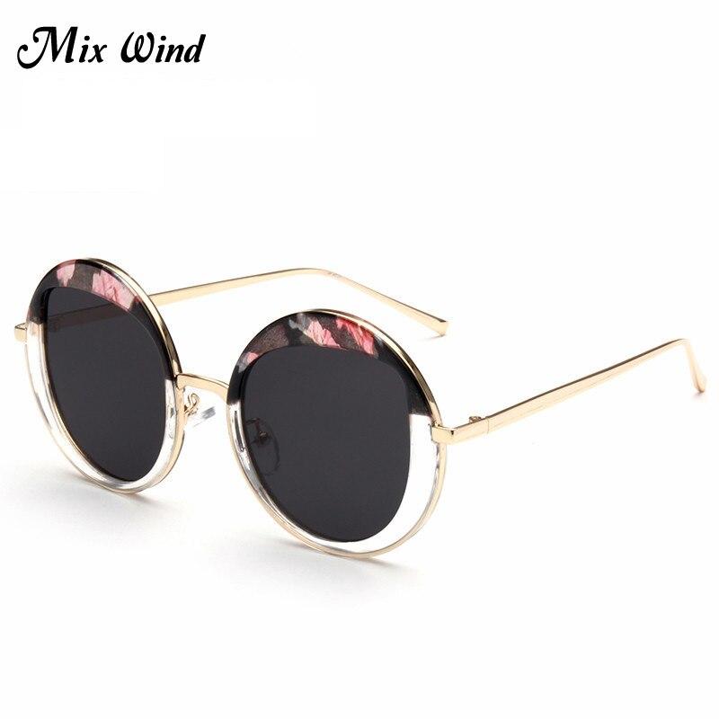 Mix Wind Sunglasses 2016 New Retro Round Women Sunglasses Female Outdoor Tourism Korean Fashion Sunglasses Glasses