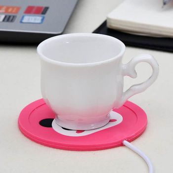 Cute Cartoon 5V USB Warmer Silicone Heat Heater for Milk Tea Coffee Mug Hot Drinks Beverage Cup Mat Kitchen Tools Heater newest 10