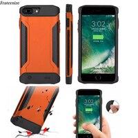 Schokbestendig Slanke Batterij Case Voor iPhone 6 6S 7 8 Plus Power Bank Charing Gevallen Armor Backup Battery Charger back Cover 5000 mAh