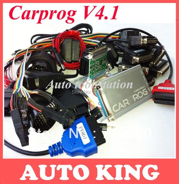 Универсальный Диагностический Инструмент V7.28 CARPROG со всеми 21 адаптеров, автомобиль прога для радио, одометров, приборных панелей, иммобилайзеры и бесплатно