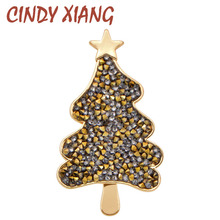 CINDY XIANG Popular Brooches For Women Couple Models Christmas Tree Pins For Man Neckline Accessories Festival Worth Jewelry