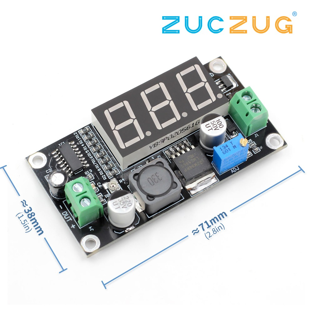 Lm2596 Xh M136 Adjustable Voltage Reduction Module Dc Power Supply Meter Lcr Gm328a Test Clip For Sale Electroniccircuitsdiagrams Digital Green Display Wide In Integrated Circuits From Electronic