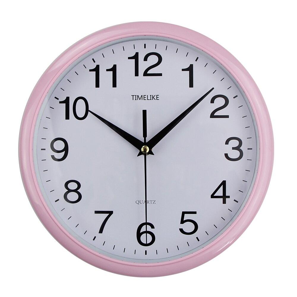 Neue Vintage Runde Wanduhr Moderne Plasitc Uhr Quarz Horloge Retro Wathces Relogio de parede