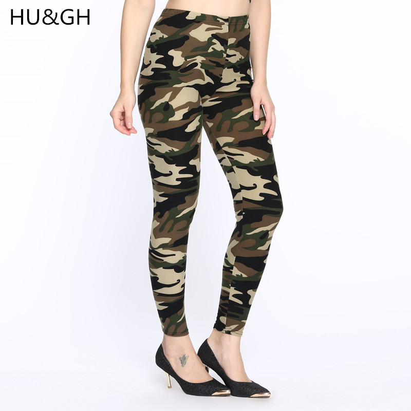 HU&GH2017 winter leggings fitness Camouflage women print Trouser Army Pants Stretch Legging for female printed