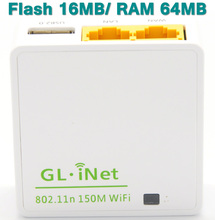 GL.iNet 6416A 150Mbps 802.11g/b/n Mini Wireless WiFi Router OPENWRT Firmware Wi-Fi Repeater Travel Routers 16MB Flash/64MB Ram(China (Mainland))
