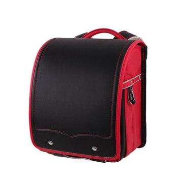 Nuevo bolso escolar para mujer, mochila japonesa con cierre de metal, bolso de escuela ortopédico de cuero PU resistente al agua, de grado primario, 1-3, bolsa para niños