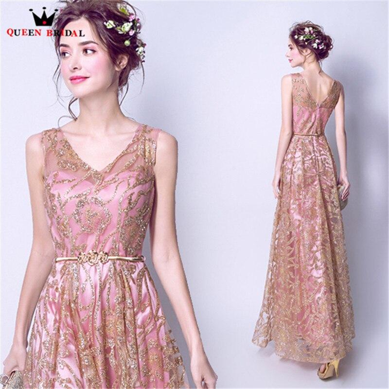 Reine robes De soirée De mariée a-ligne col en v Sequin formelle robe De soirée De bal robes De soirée 2020 nouveau Design Vestido De Festa JW05