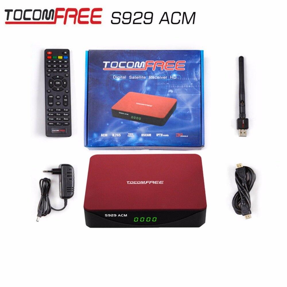 Hot receptor de satelite sks iks TocomFREE S929 acm usb wifi Satellite Receiver FTA HD IKS SKS IPTV TWIN TUNER South America