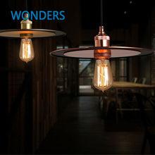 Nórdicos luces colgantes de metal de la vendimia LOFT Creativo flying saucer UFO forma lámpara de cafe restaurant tienda oficina de art deco