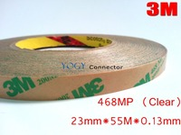 3M 468MP, (23mm*55M*0.13mm) 200MP Adhesive, 2 Sides Sticky Tape, for Laptop Rubber Foam Gasket Pad Adhesive, PCB Bonding