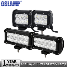 Oslamp 4 дюймов 18 Вт 7 дюймов 36 Вт Светодиодный рабочий свет 12 в 24 В Spot/Наводнение Светодиодный рабочий лампа фары Offroad 4×4 грузовик Лодка 4WD ATV внедорожник