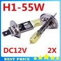 2 PCS H1 Lâmpadas 3000 K Halogênio Xenon H1 12 V 55 W Amarelo Dourado Fog Carro Preço de Fábrica Estacionamento Styling