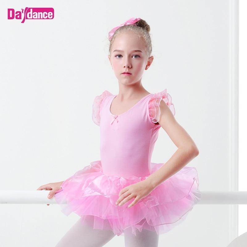 المهنية الفتيات الاطفال منتفخ الباليه توتو الجنية تنورة راقصة الباليه أداء المرحلة ارتداء الأبيض الوردي الباليه توتو