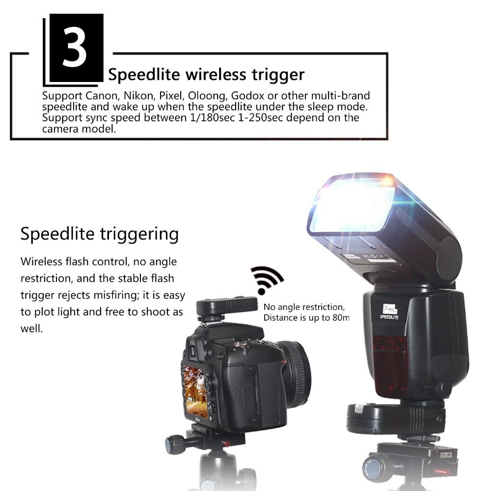InseSI IN-560IV IN560IV PLUS & PIXEL M8 LCD FlashLight Bezdrátový - Videokamery a fotoaparáty - Fotografie 5