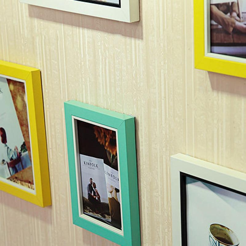 13 sztuk w stylu europejskim ściana z drewna kompozytowego ramka na - Wystrój domu - Zdjęcie 6