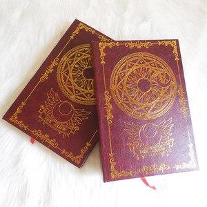 Image 4 - 2 цвета, аниме карта Captor Sakura, экшн фигурка, магический массив, с принтом, волшебный блокнот, дневник, книга, канцелярский журнал, записная книжка