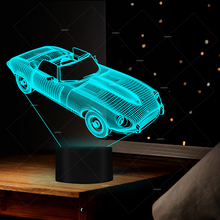 Car Addiction 3D car design LED night lights 7 colors for kids room decor best gifts for men desk lamp creative souvenir gift