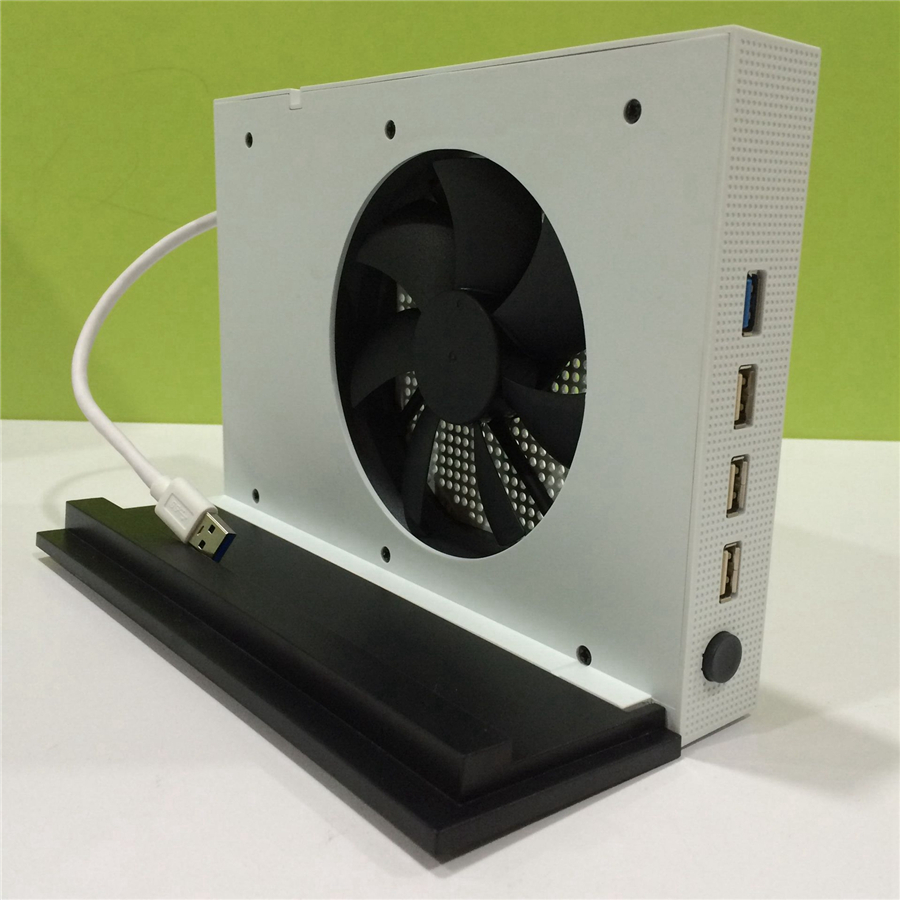 Vertical Stand and Cooling Fan for Xbox One S 4 Ports USB Hub for Xbox One цена и фото
