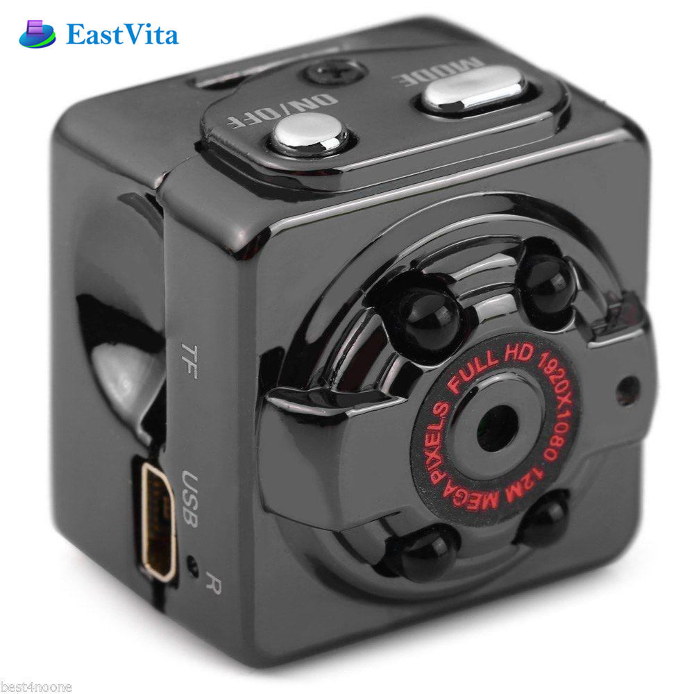 EastVita Full HD MINI Camera 1080P 12MP Night Vision Outside Nanny Micro Cam Motion Detection Digital Camcordor Recorder SQ8