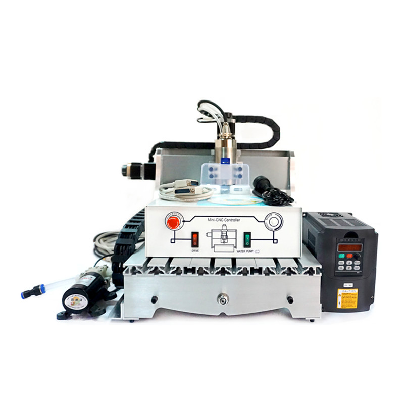 800W water cooled spindle 3axis cnc milling machine 3040 4axis mini wood engraving machine 4030 dc spindle 500w 3axis cnc wood carving machine 3040 4axis mini cnc 4030 router machine