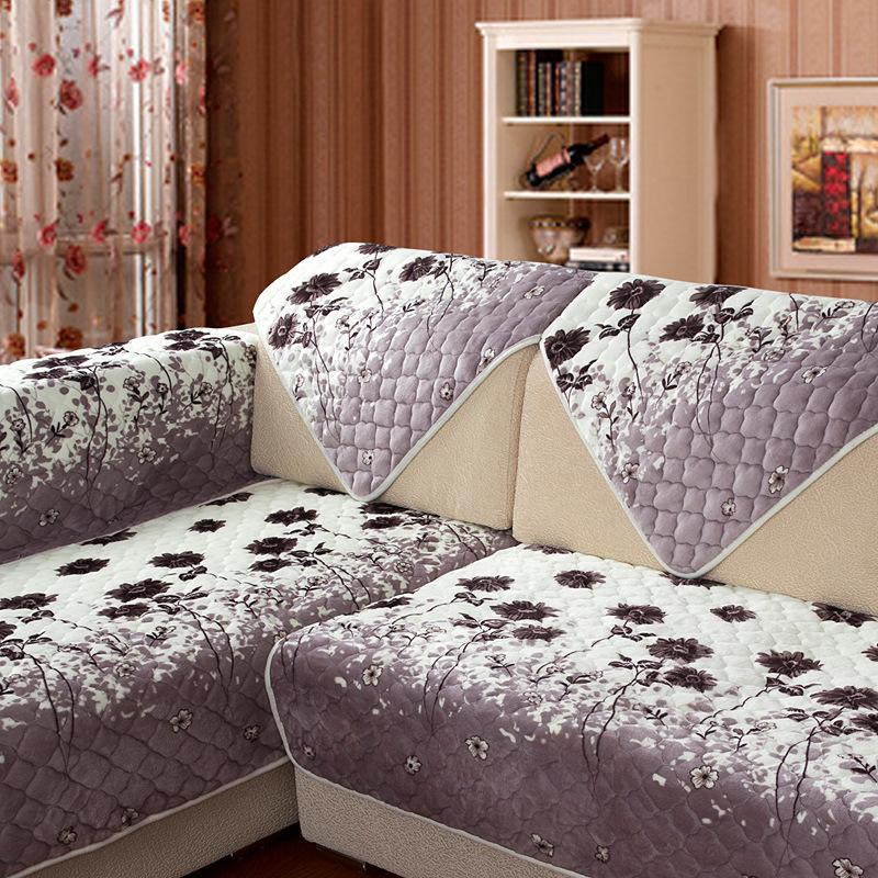 tuedio unids felpa tela toalla sof cubierta sof seccional moderno floral fundas de sof