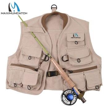 Maximumcatch Vliegvissen Vest 100% Katoen Fly Vest Hykids Jeugd Kinderen Jas Multi Pocket Voor Kinderen Jeugd Maat S/ M/L