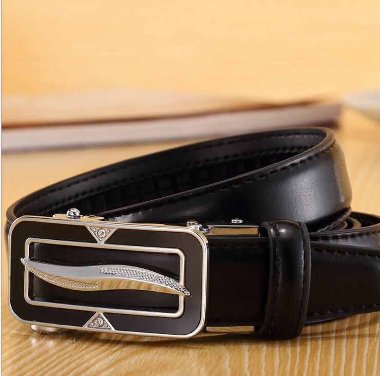 Fashion black belts for women Unisex Belt Genuine Cowhide Leather Split Leather metal buckle strap waist belt female accessor