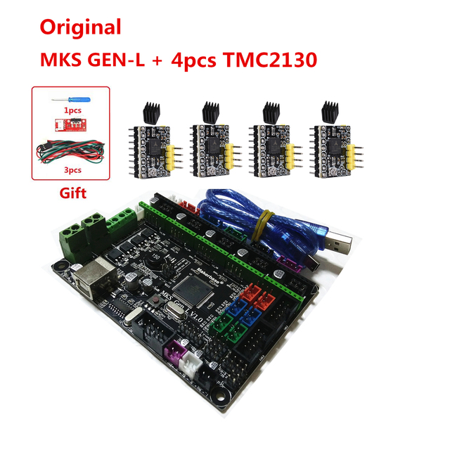US $17 6 12% OFF|Aliexpress com : Buy Makerbase MKS GEN L V1 0 3D printer  card control mainboard support a4988 DRV8825 tmc2100 tmc2208 lv8729 tmc2130