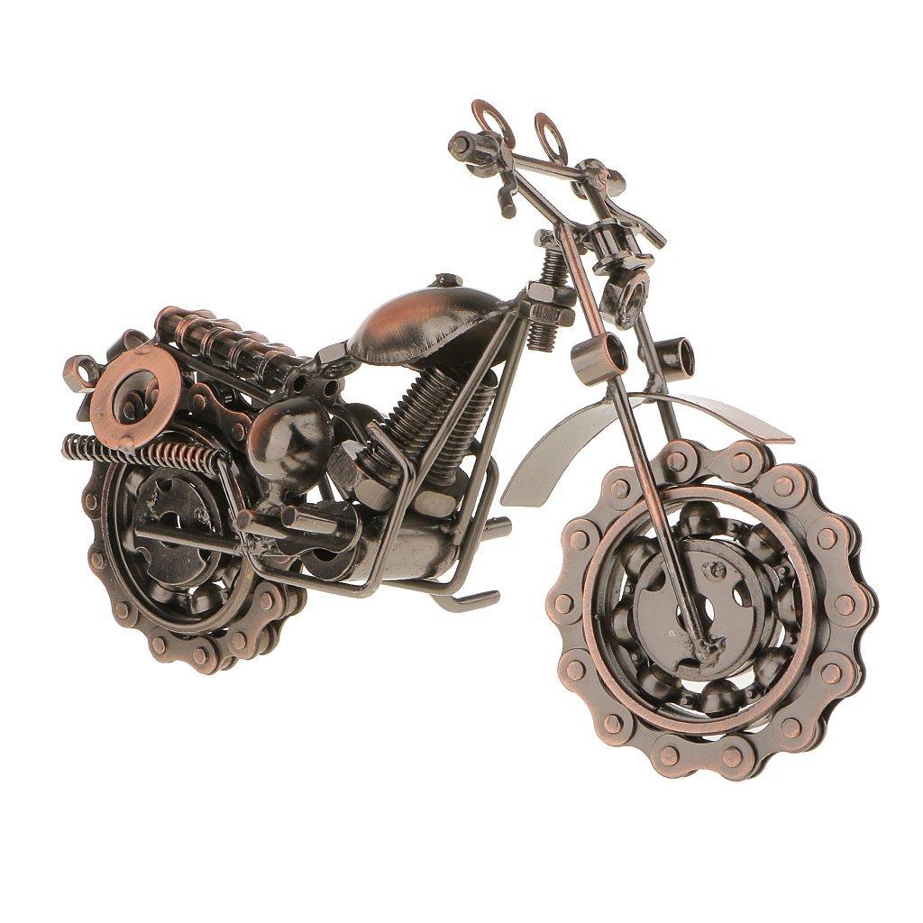 Vintage Metal Craft Motorbike Motorcycle Model Home Decor Ornament Gift