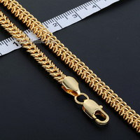 Thanksgiving Xmas Christmas Gift 6mm Womens Chain Ladies Girls Braided Bismark Link Rose Gold Filled Necklace