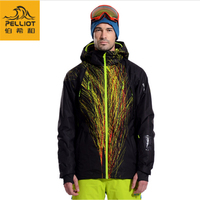 PELLIOT High Quality Waterproof Men's Ski Jacket Breathable Snowboard Jacket for Men Winter Thermal Coat Snow Clothing Warm Coat